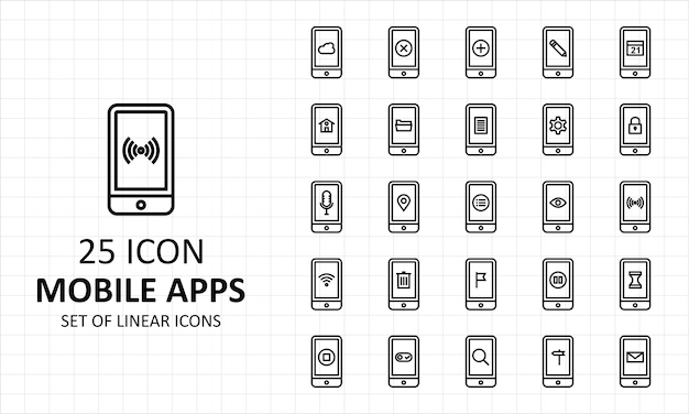 25 pictogrammen voor mobiele apps