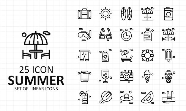25 zomer icon sheet