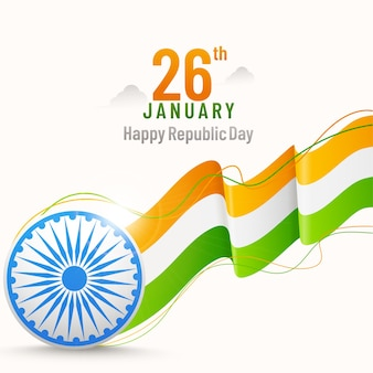 26 januari happy republic day posterontwerp