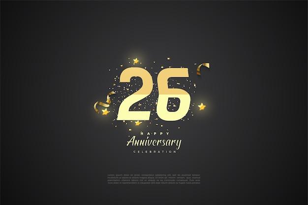 26-jarig jubileum met getallen