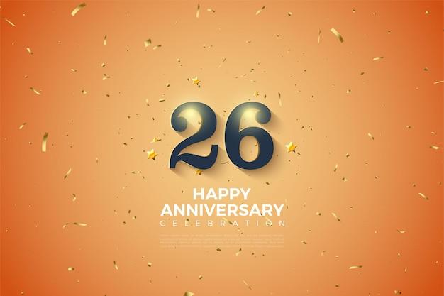 26e verjaardag met zachte witte schaduw