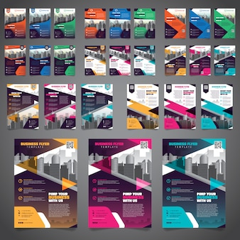 27 bundel van business brochure flyer ontwerp lay-out sjabloon