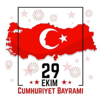 29 ekim nationale turkse onafhankelijkheid plat ontwerp