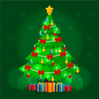 2d kerstboom achtergrond