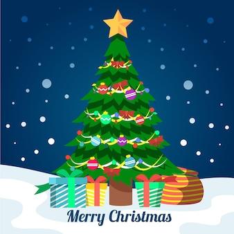 2d kerstboom concept