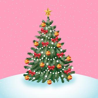 2d kerstboom concept Premium Vector