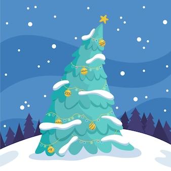 2d kerstboom sjabloon