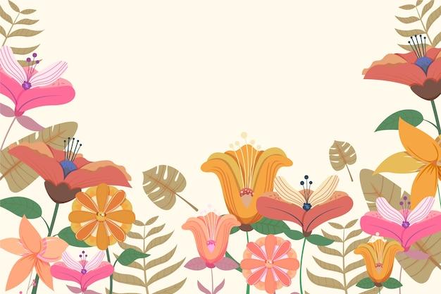 2d retro bloemenachtergrond