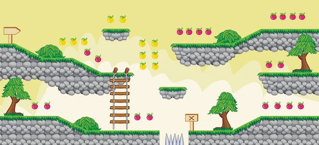 2d tileset platform game 6