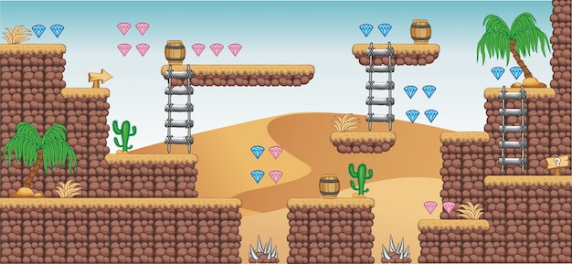 2d tileset platform game 9