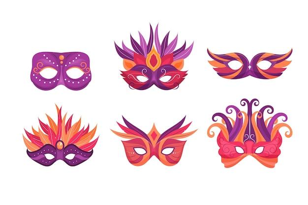2d venetiaanse carnaval maskers collectie