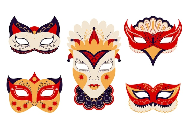 2d venetiaanse carnavalmaskers