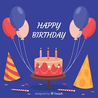 2d verjaardag met ballonsachtergrond
