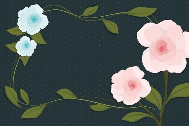 2d vintage floral achtergrond