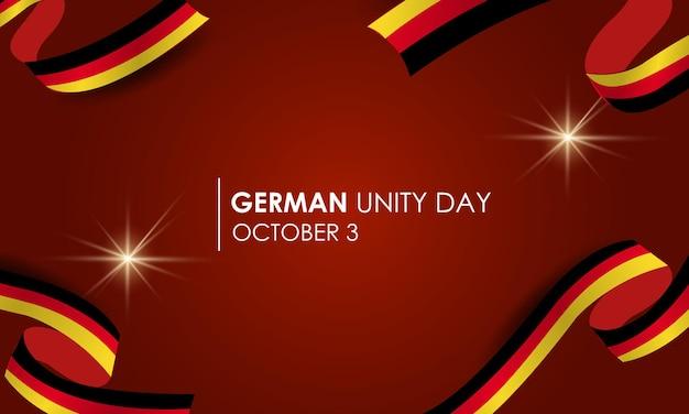 3 oktober vlag voor de dag van de duitse eenheid van duitsland ballen vuurwerk vlaggen