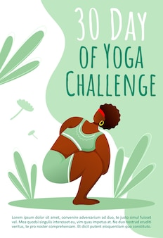 30 dagen yoga-uitdagingssjabloon. gezonde levensstijl.