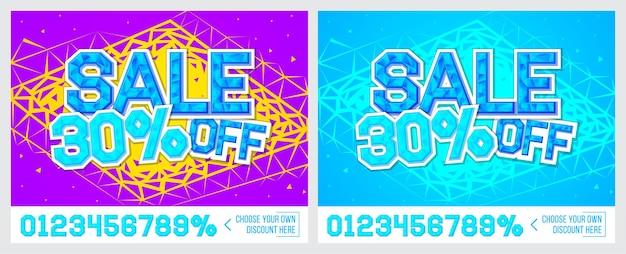 30 korting verkoopbanner op kleurrijke achtergrond