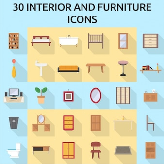 30 meubilair pictogrammen