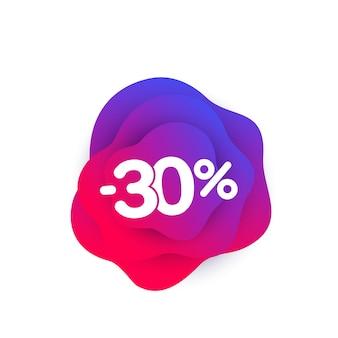30 procent korting, vectorbanner