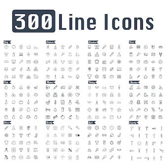 300 lijn pictogram vector