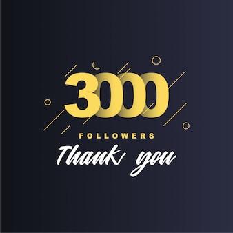 3000 volgers bedankt