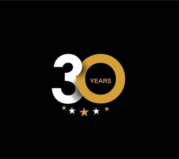 30e verjaardag viering ontwerp.