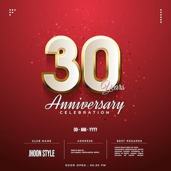 30e verjaardag viering uitnodiging achtergrond