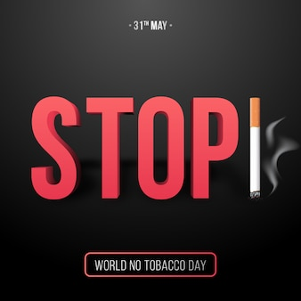 31 mei, werelddag zonder tabak.