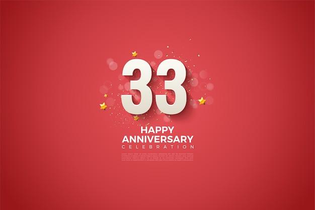 33e verjaardag met een prachtig design