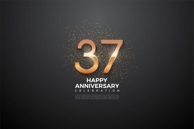 37-jarig jubileum met gloeiende cijfers