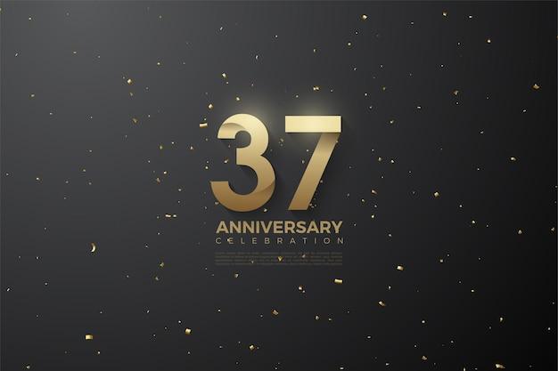 37-jarig jubileum met patroonnummers