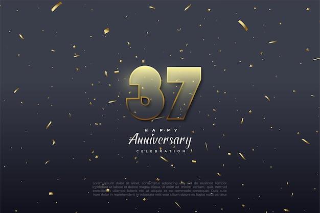 37-jarig jubileum met transparante cijfers
