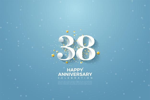 38e verjaardag hemelachtergrond