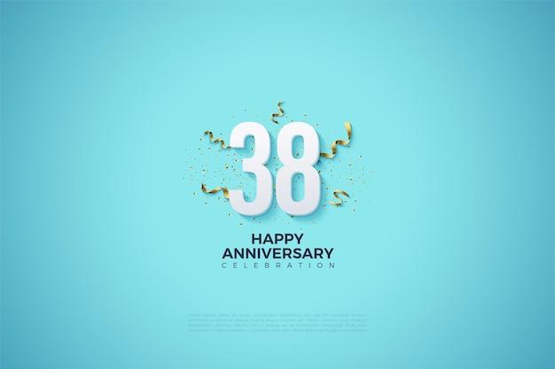 38e verjaardag met feestvreugde