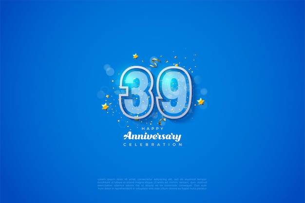 39e verjaardag met zijn prachtige design
