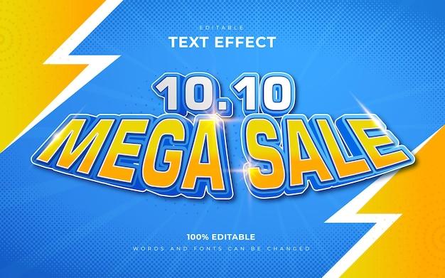 3d 10 10 mega-uitverkoop teksteffecten