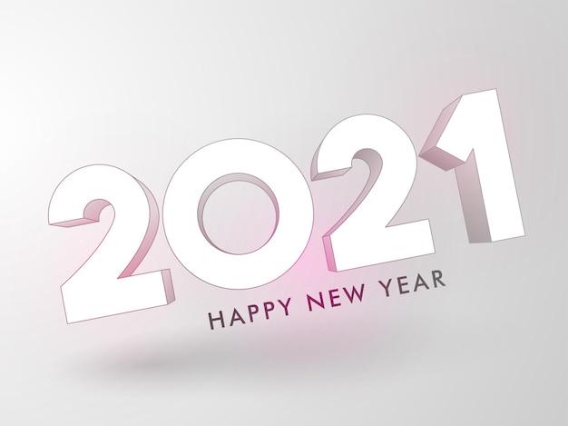 3d 2021-teksteffect met grijze achtergrond