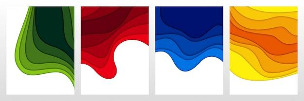 3d abstracte achtergrond en papier gesneden vormen