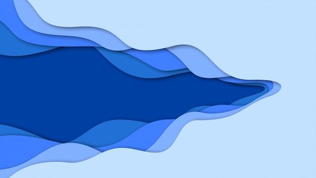 3d-abstracte achtergrond en papier gesneden vormen