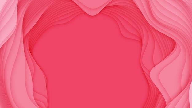 3d abstracte achtergrond met papier gesneden vorm