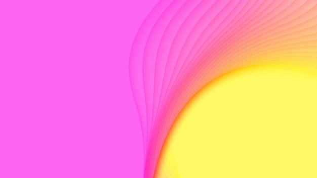 3d abstracte achtergrond met papier gesneden vormen