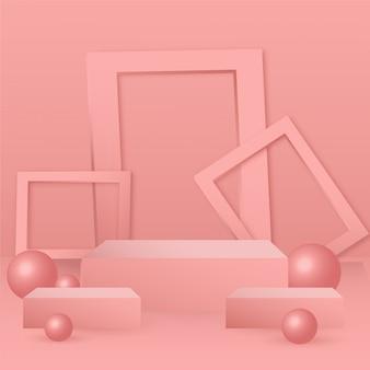 3d abstracte geometrie vorm podium voor het plaatsen van producten achtergrond