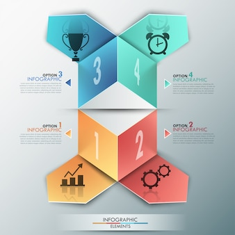 3d abstracte infographic sjabloon