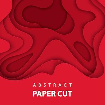 3D-abstracte kerst papier kunststijl