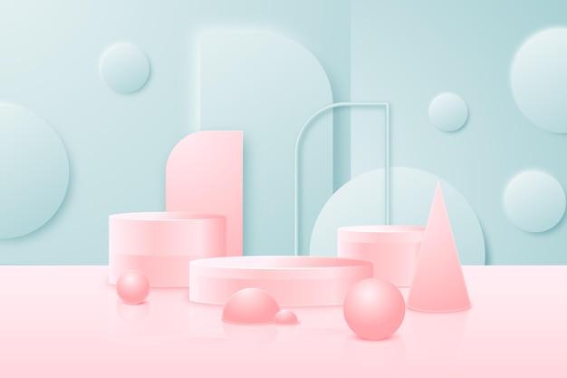 3d abstracte scèneachtergrond