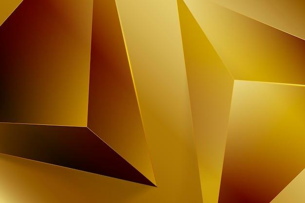 3d achtergrond van de driehoeken gouden luxe