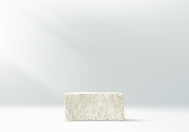 3d achtergrondproducten tonen podiumscène met sotne geometrisch platform.