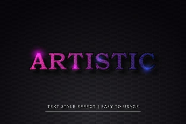 3d-artistieke tekststijleffect met kleurrijk verloop