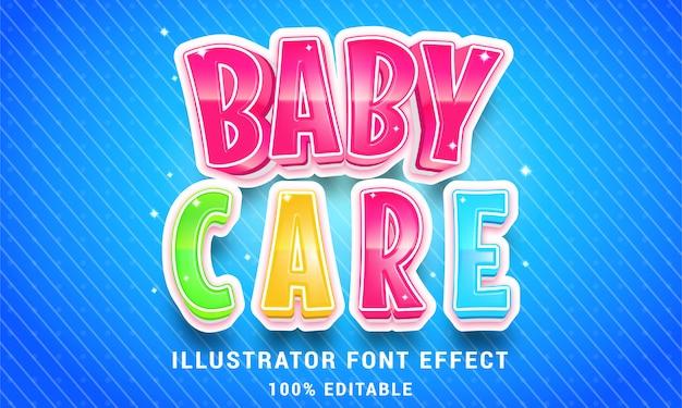 3d-babyverzorging - gemakkelijk bewerkbaar teksteffect