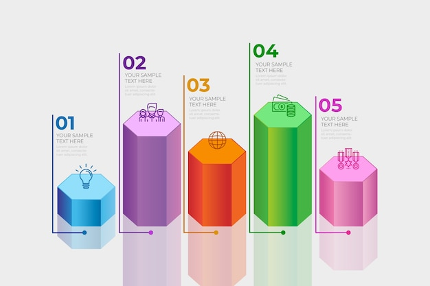 3d-balken infographic concept